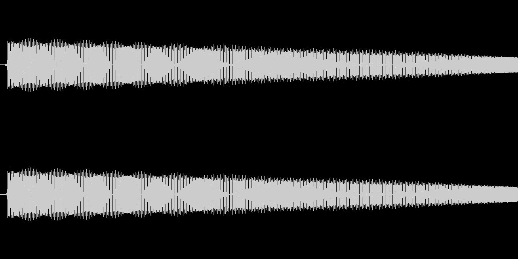 レトロゲーム風ショット音2の未再生の波形