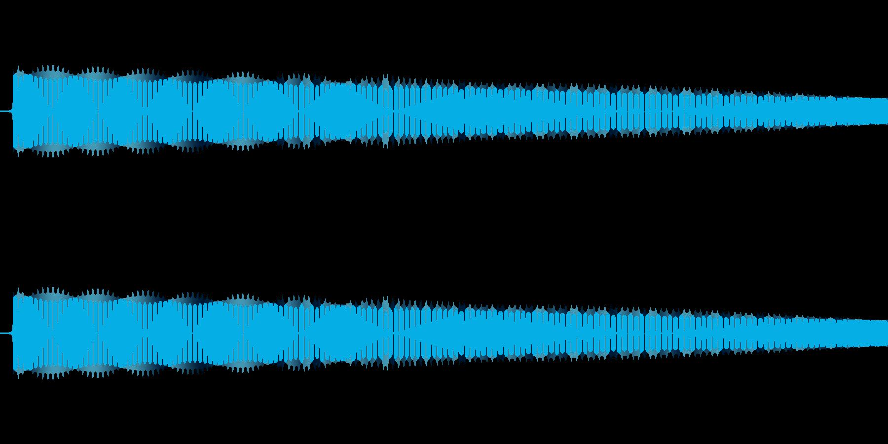 レトロゲーム風ショット音2の再生済みの波形