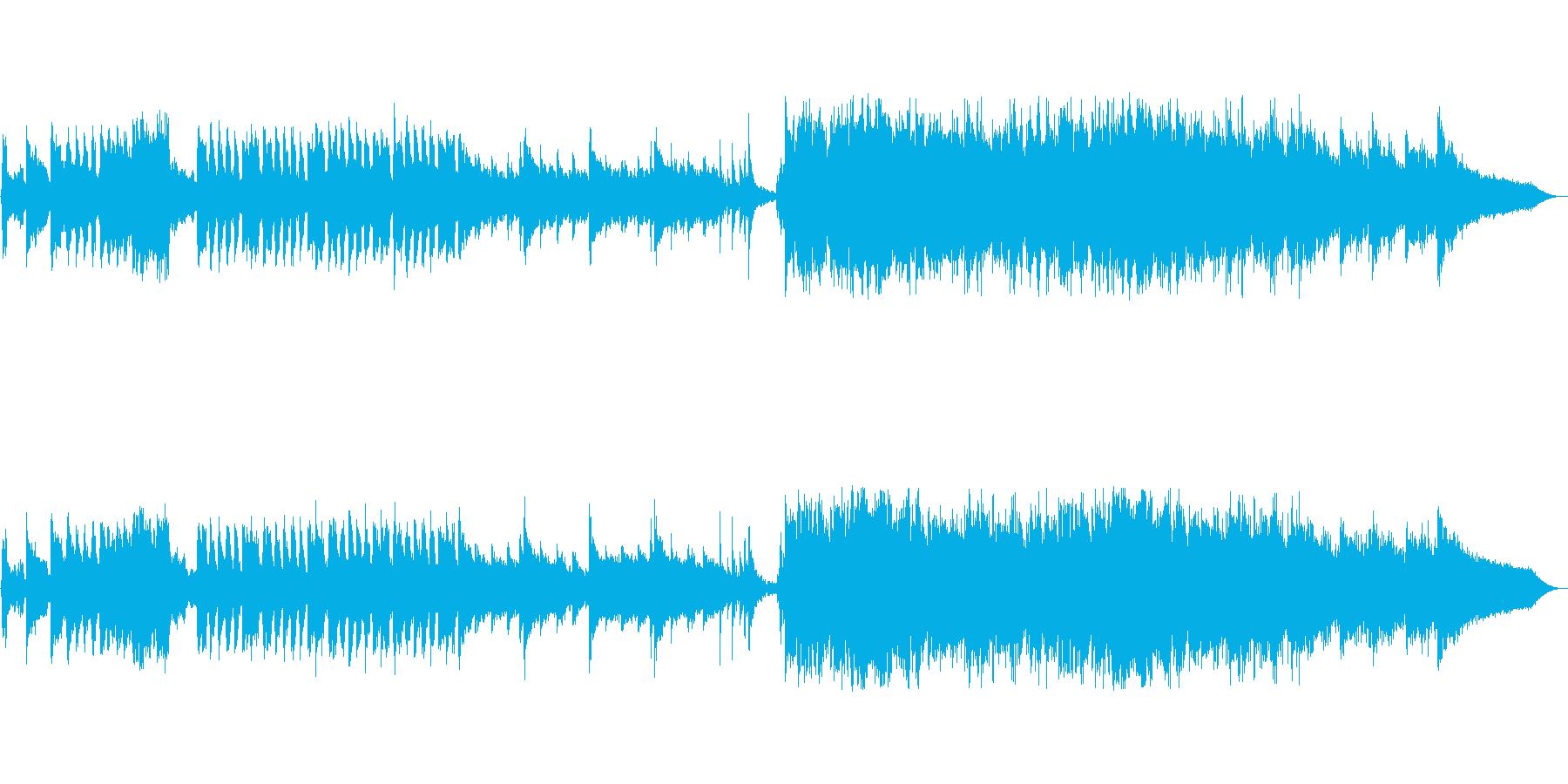 和風ループ音源アップテンポの再生済みの波形