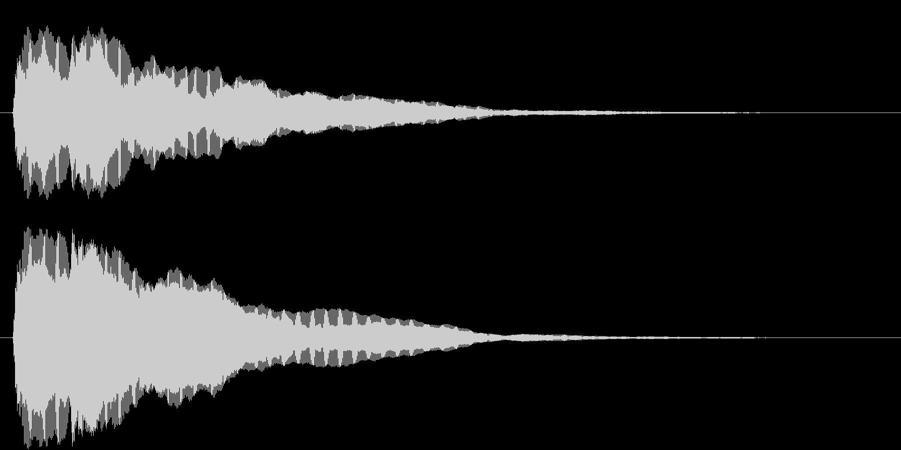 ティティーン(ピアノジングル:中音)の未再生の波形