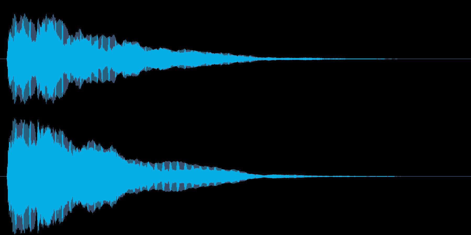 ティティーン(ピアノジングル:中音)の再生済みの波形