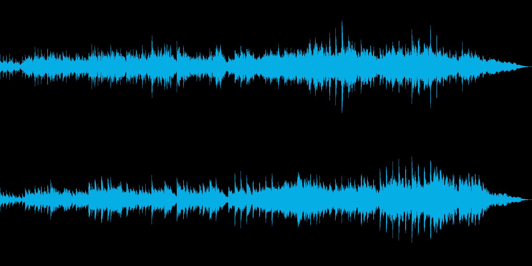 ピアノとストリングスしっとり切ない系の曲の再生済みの波形