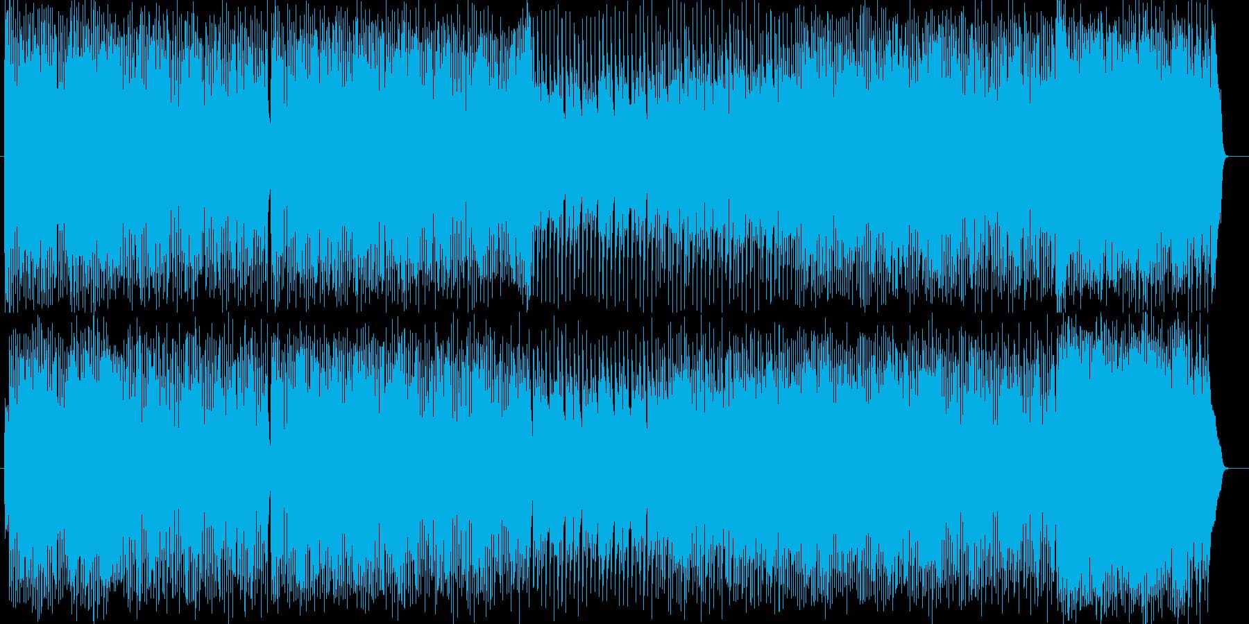 激しさ変則気味のギターの曲の再生済みの波形