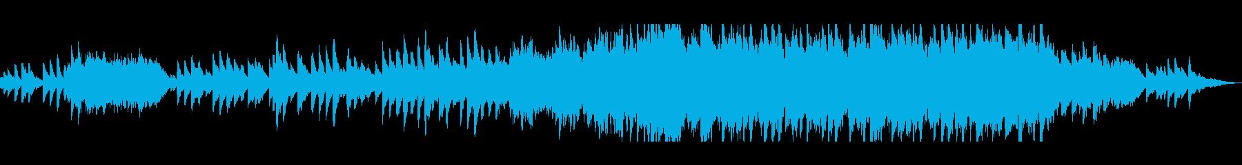 ゆっくりと眠れそうな癒される曲の再生済みの波形
