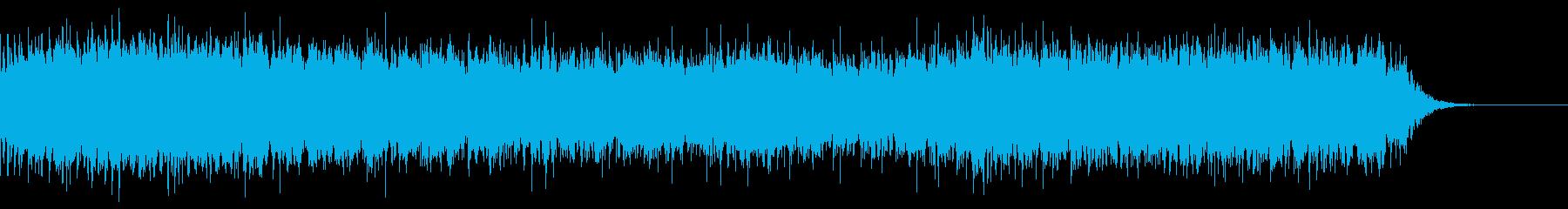 神秘的でフワフワとしたベルの綺麗な曲の再生済みの波形