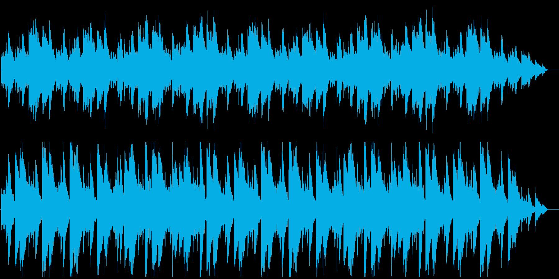 無気力で気だるい感じの曲の再生済みの波形