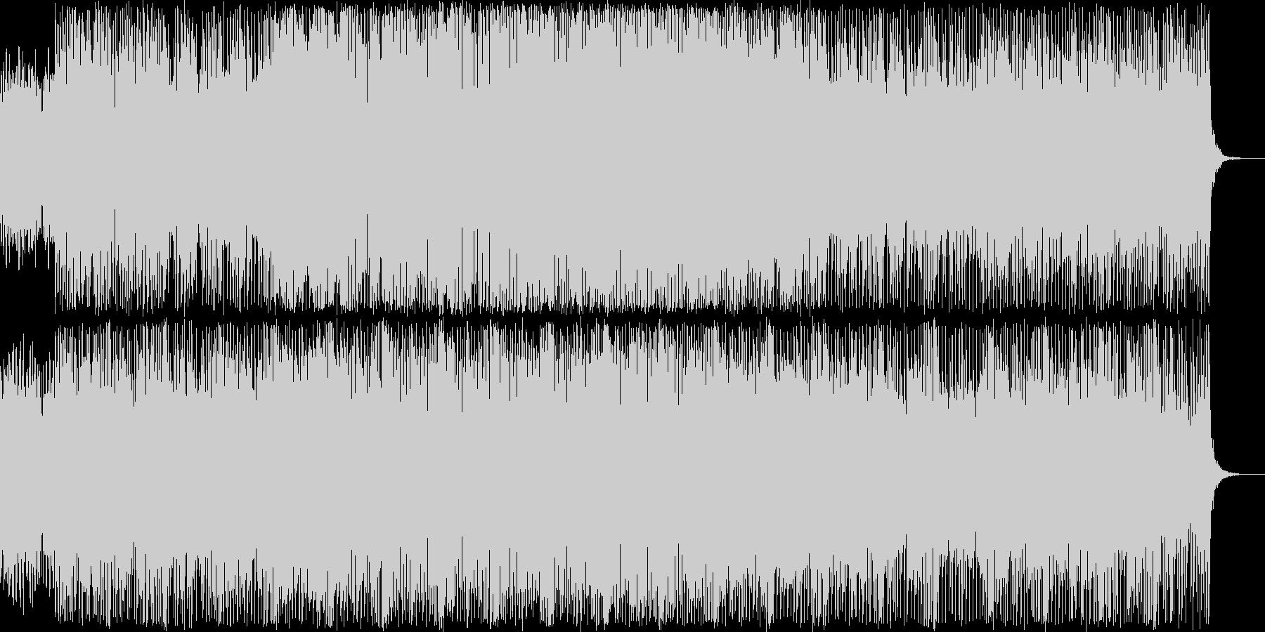 シンセリフが印象的なポップスの未再生の波形
