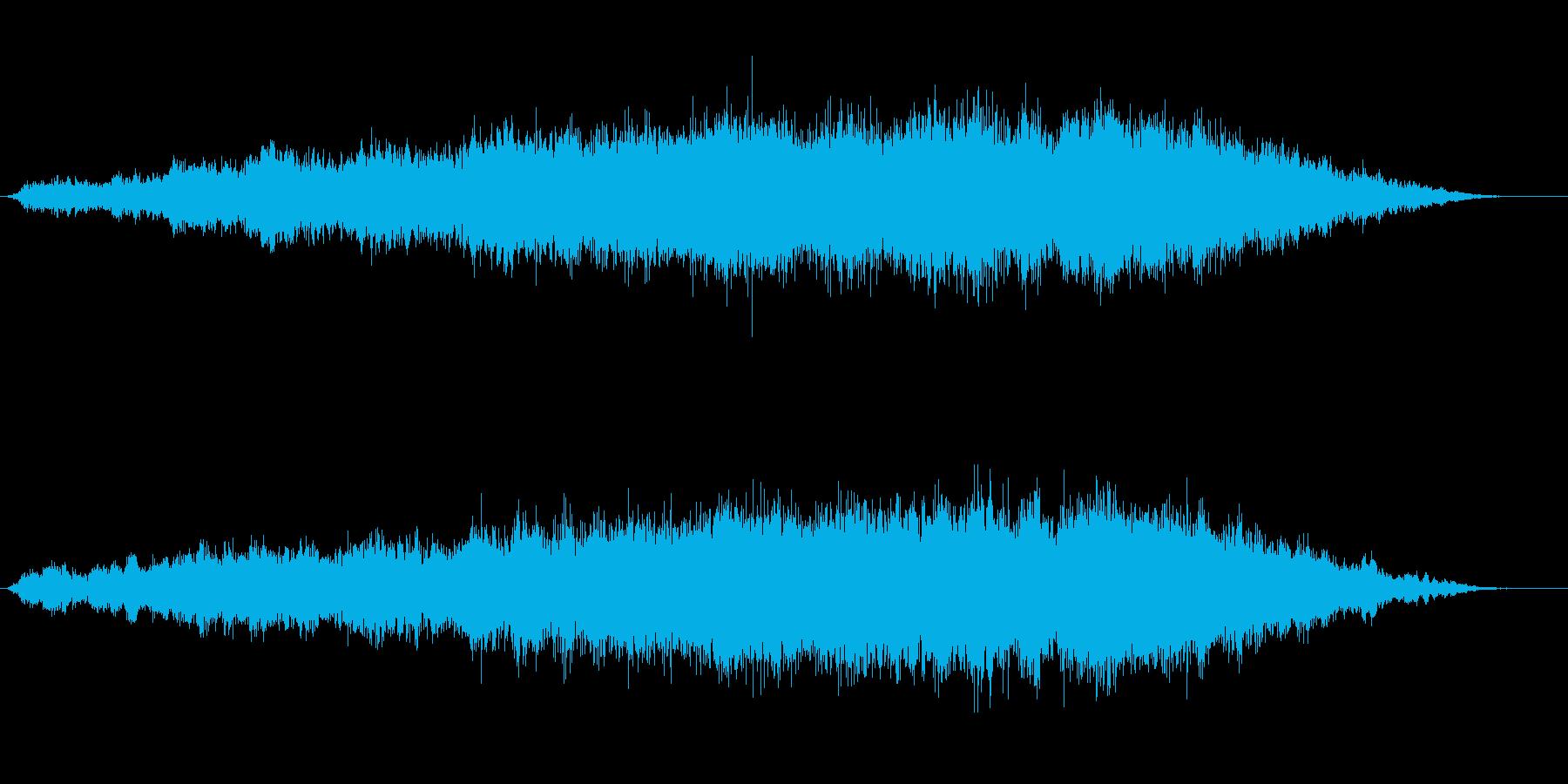 エスニック風な呪文の言葉の神秘的な音風景の再生済みの波形