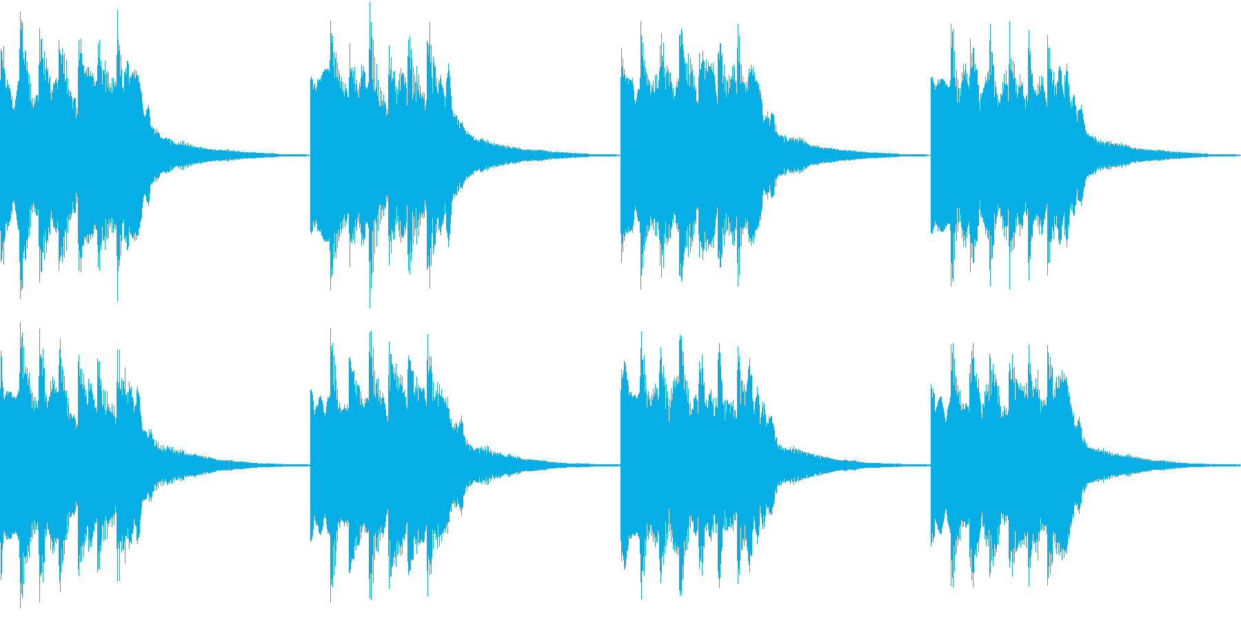 シンプル ベル 着信音 チャイム B-1の再生済みの波形