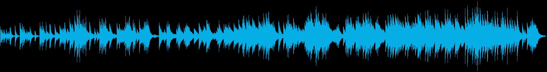 優しく切ないピアノバラードの再生済みの波形