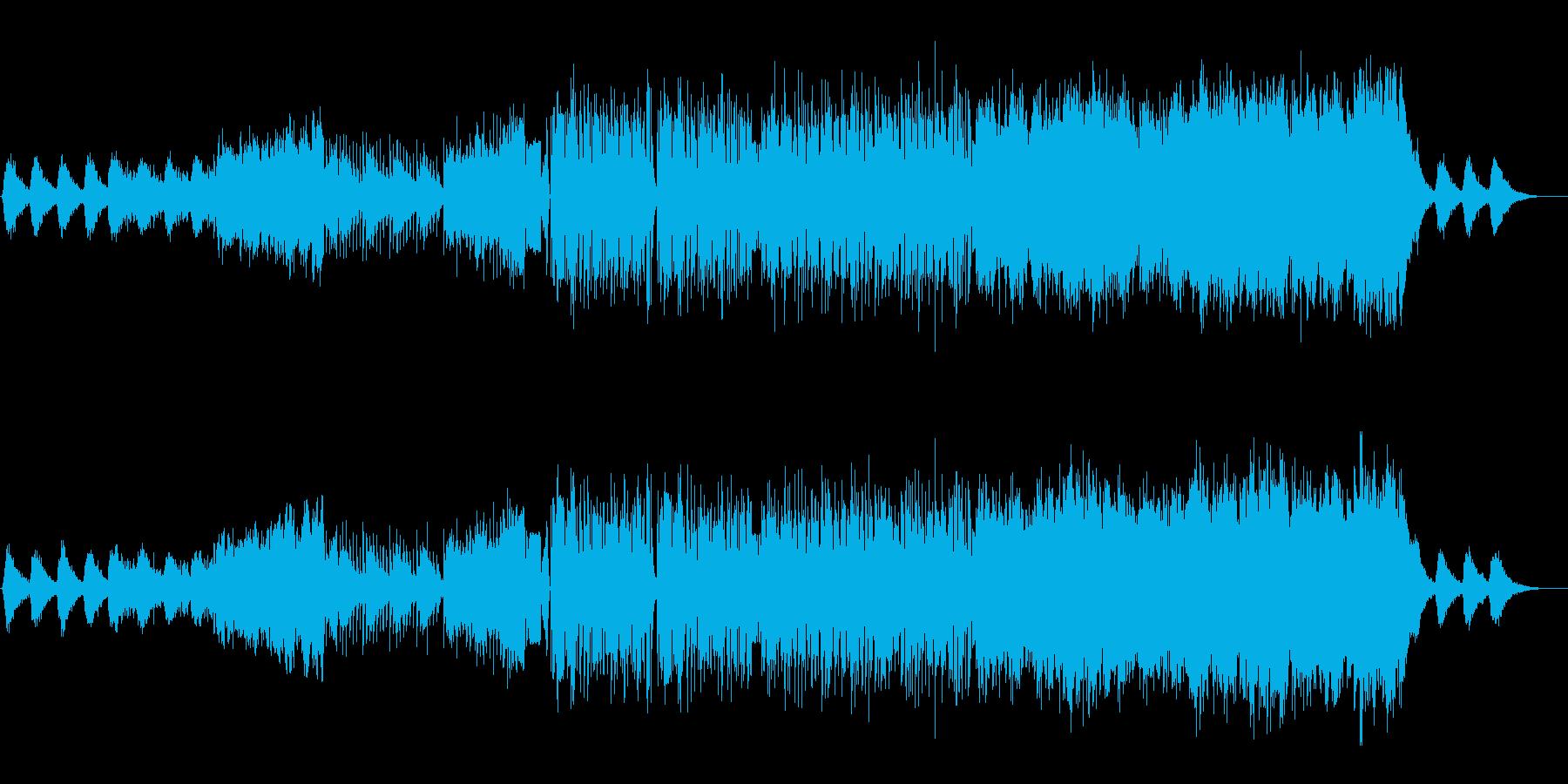 魔導機をイメージした、ダブステ風BGMの再生済みの波形