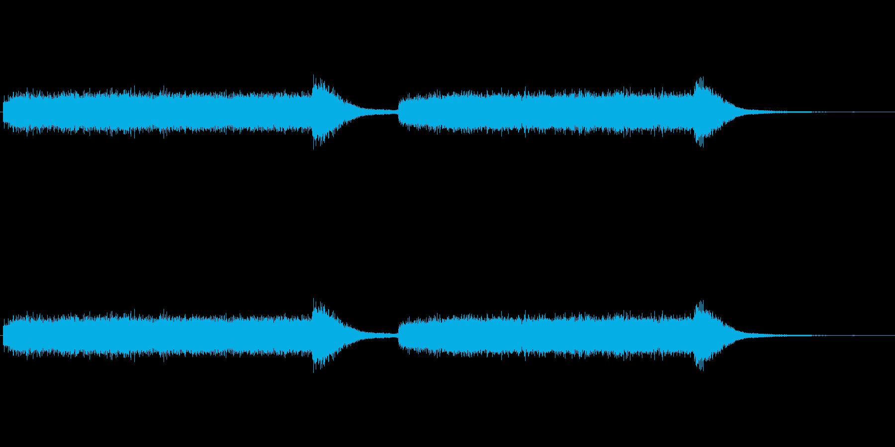 キーンという歯を削るときの音の再生済みの波形