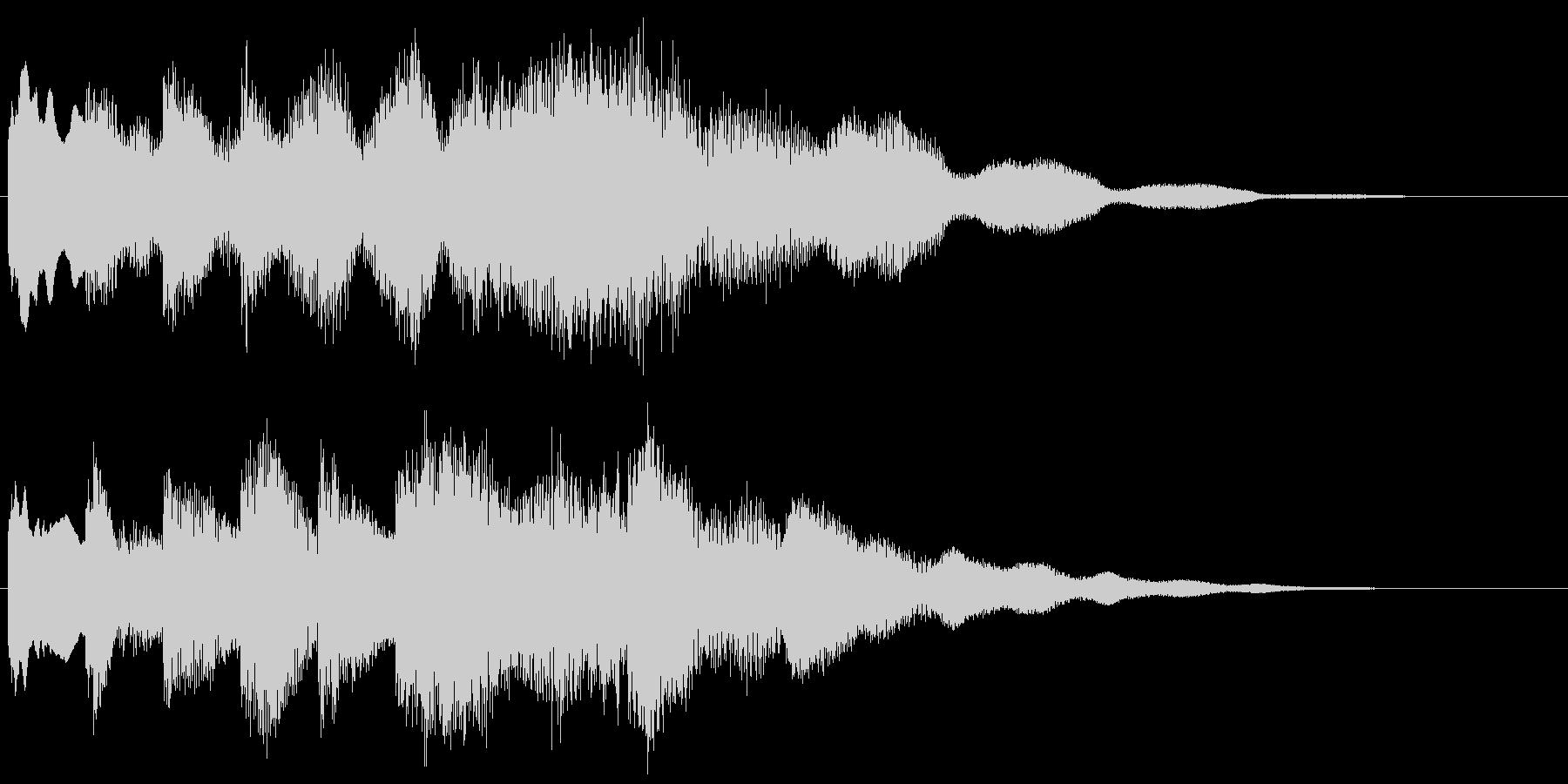 澄んだ響き、冷たい感じの転回音 場面転換の未再生の波形