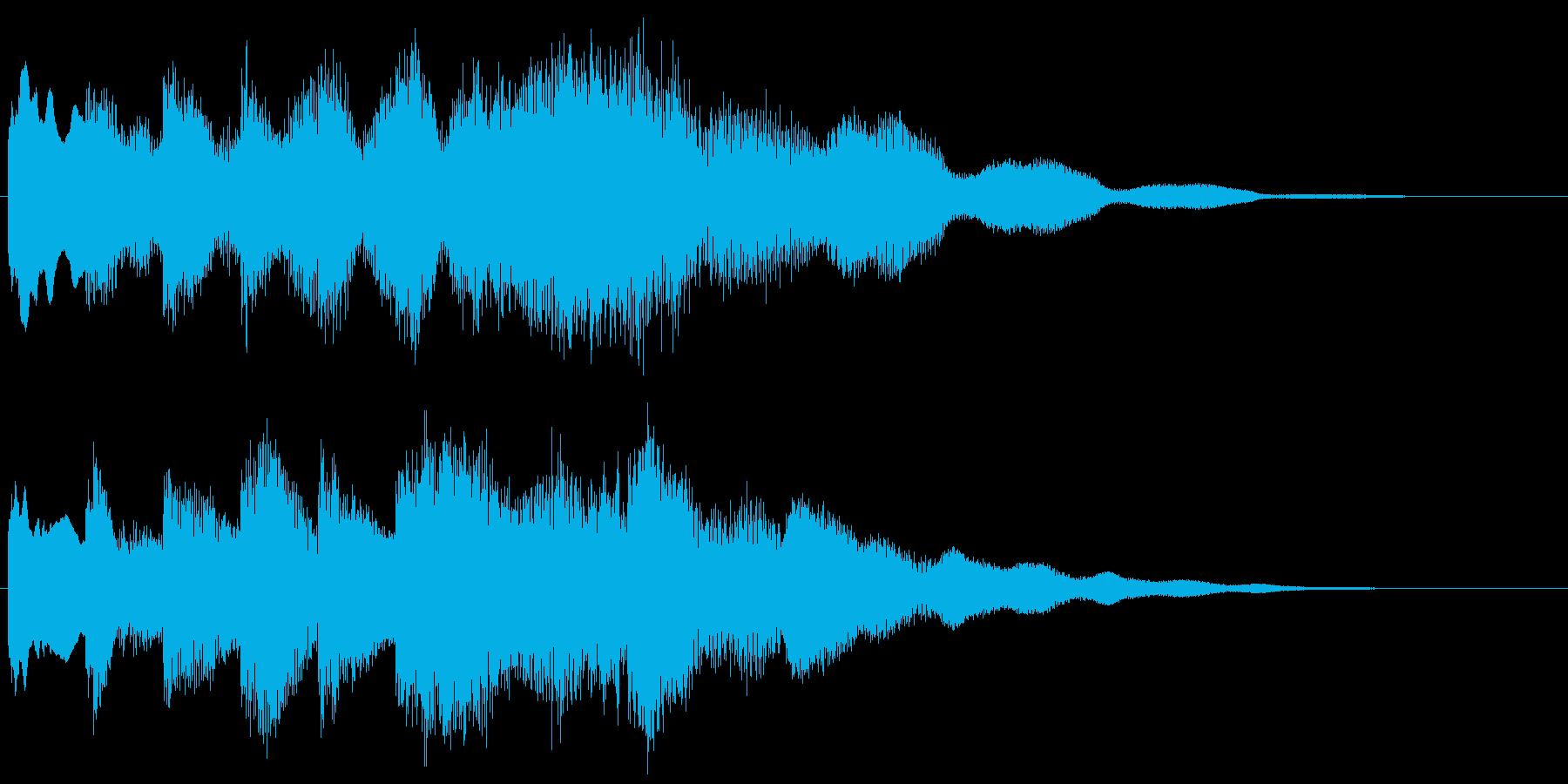 澄んだ響き、冷たい感じの転回音 場面転換の再生済みの波形