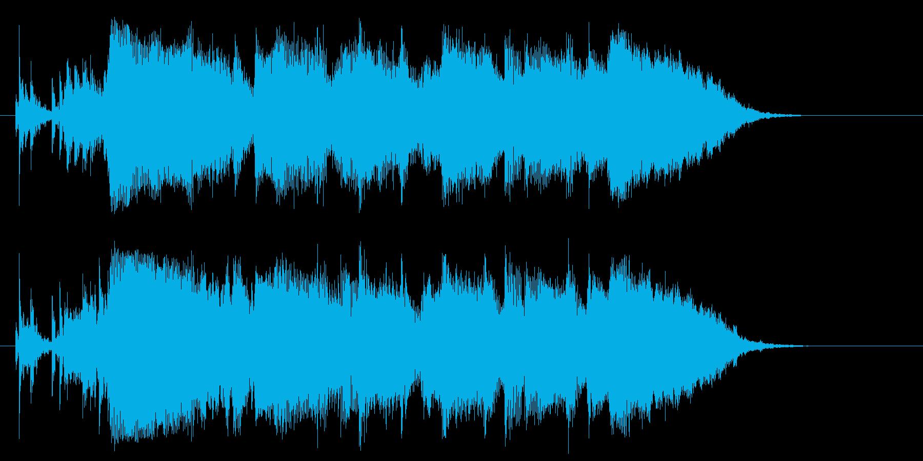 泣きのギターが効いている曲の再生済みの波形