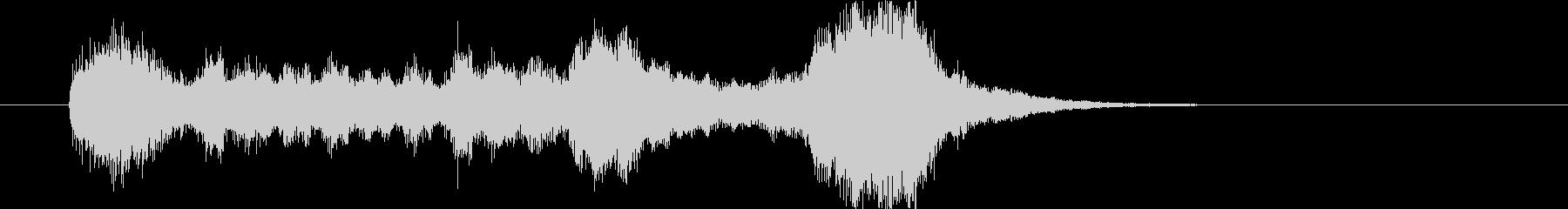 トランペット3本の正統派ファンファーレ。の未再生の波形