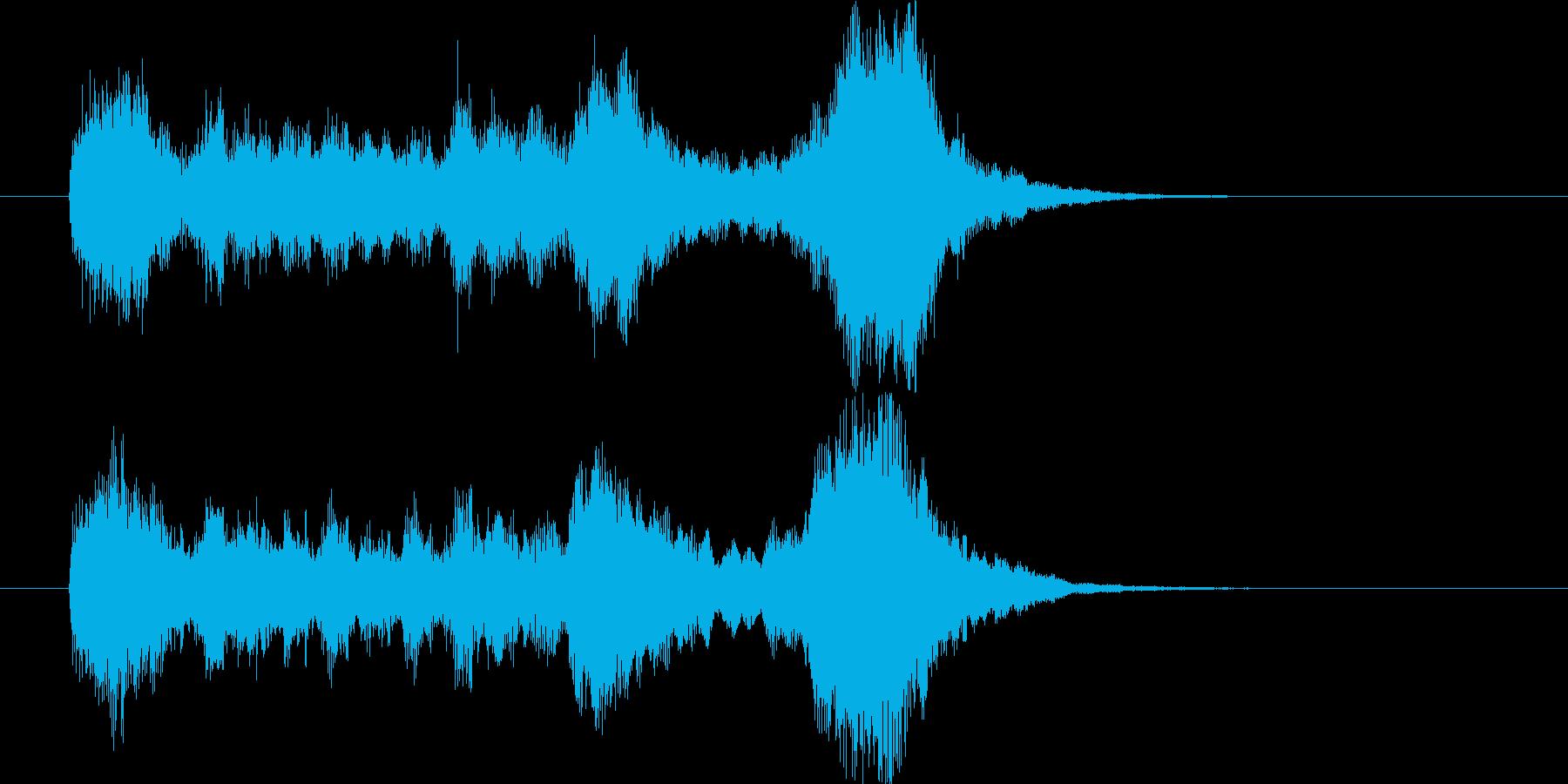 トランペット3本の正統派ファンファーレ。の再生済みの波形