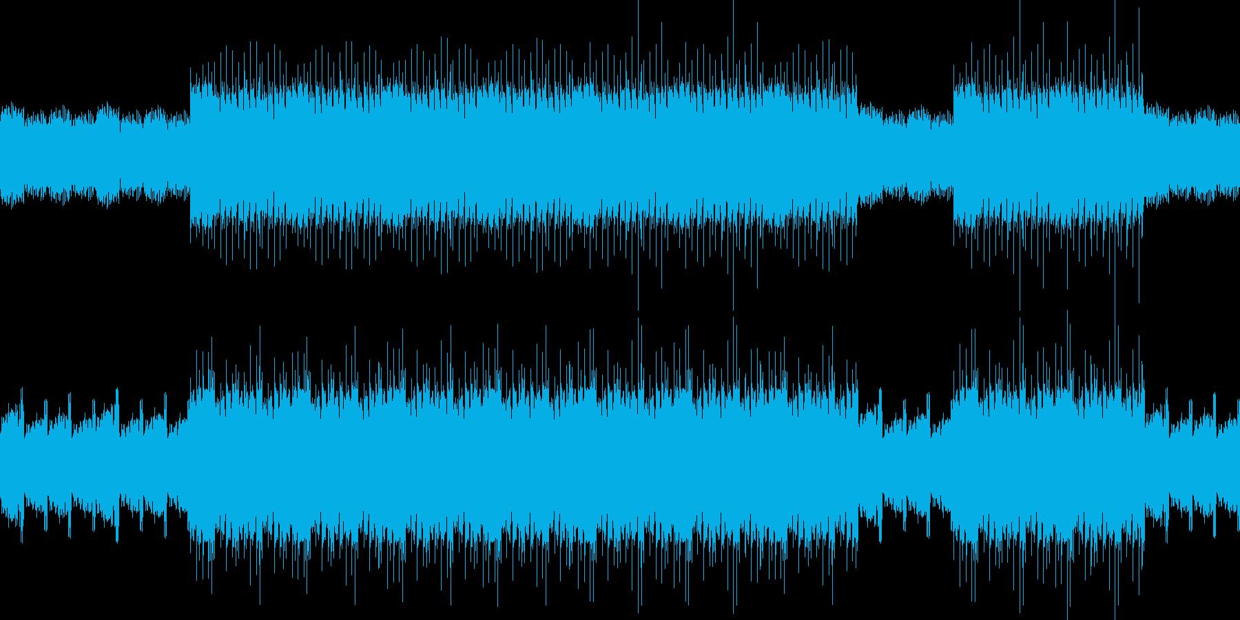 RPGやパズルゲームのバック音楽の再生済みの波形