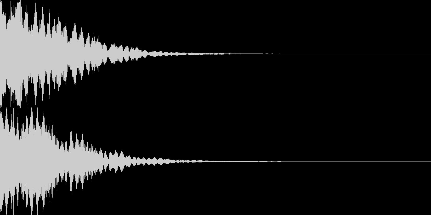 アイテム獲得音01の未再生の波形