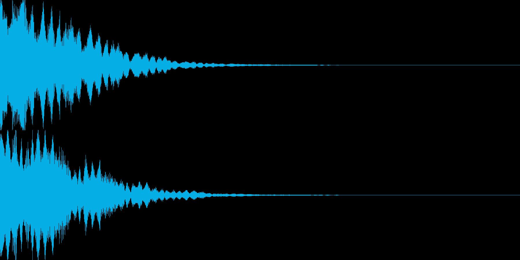 アイテム獲得音01の再生済みの波形