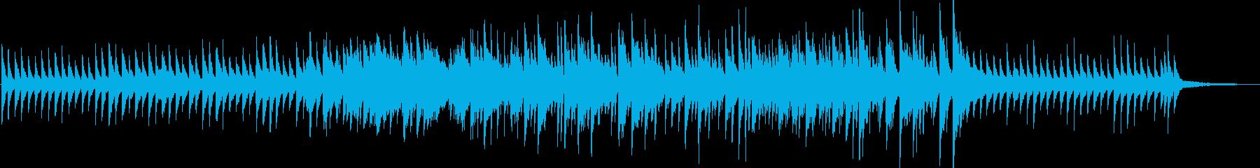 幻想的で綺麗なピアノ曲の再生済みの波形