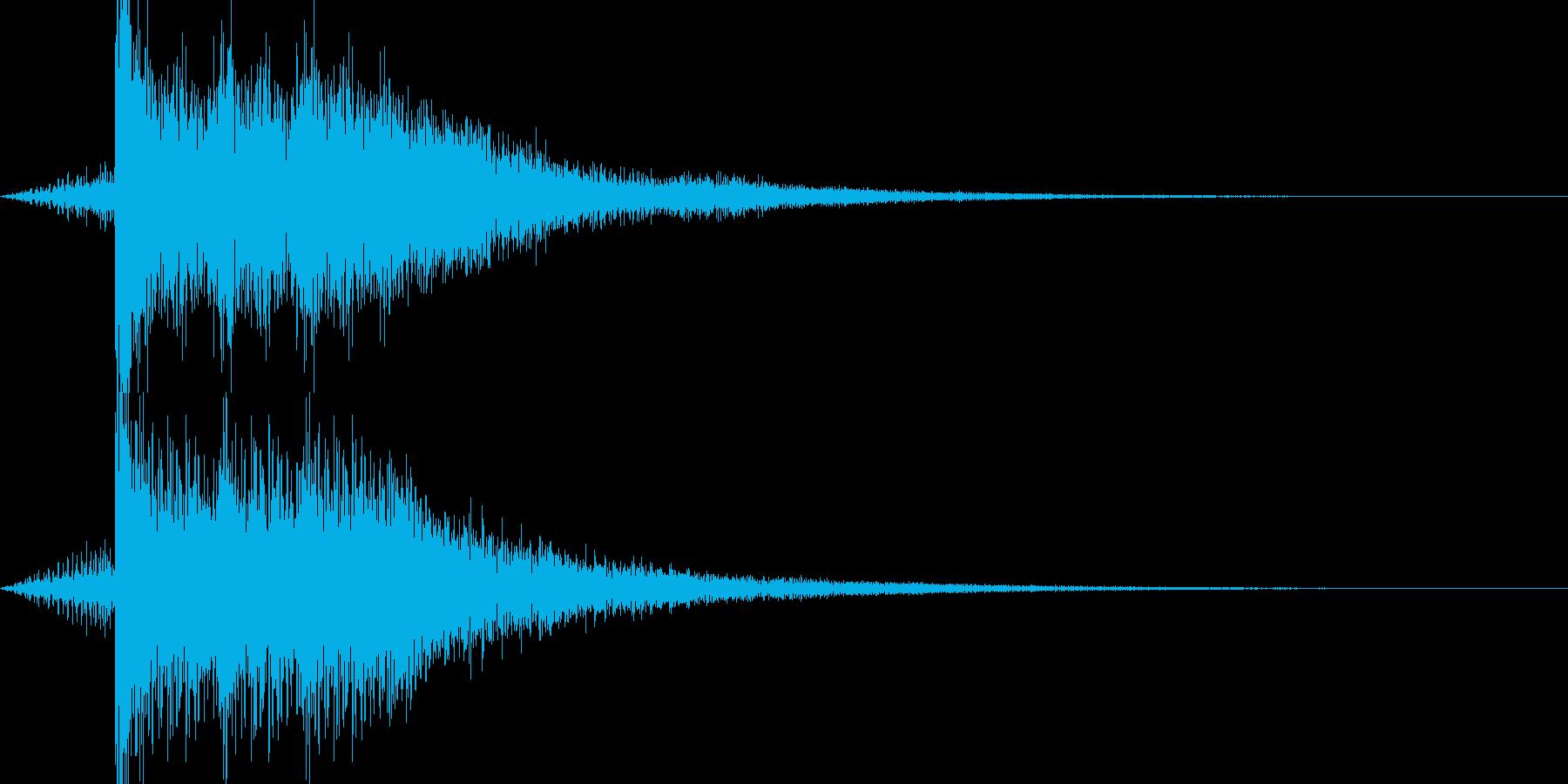 コメディー感たっぷりな驚き音の再生済みの波形