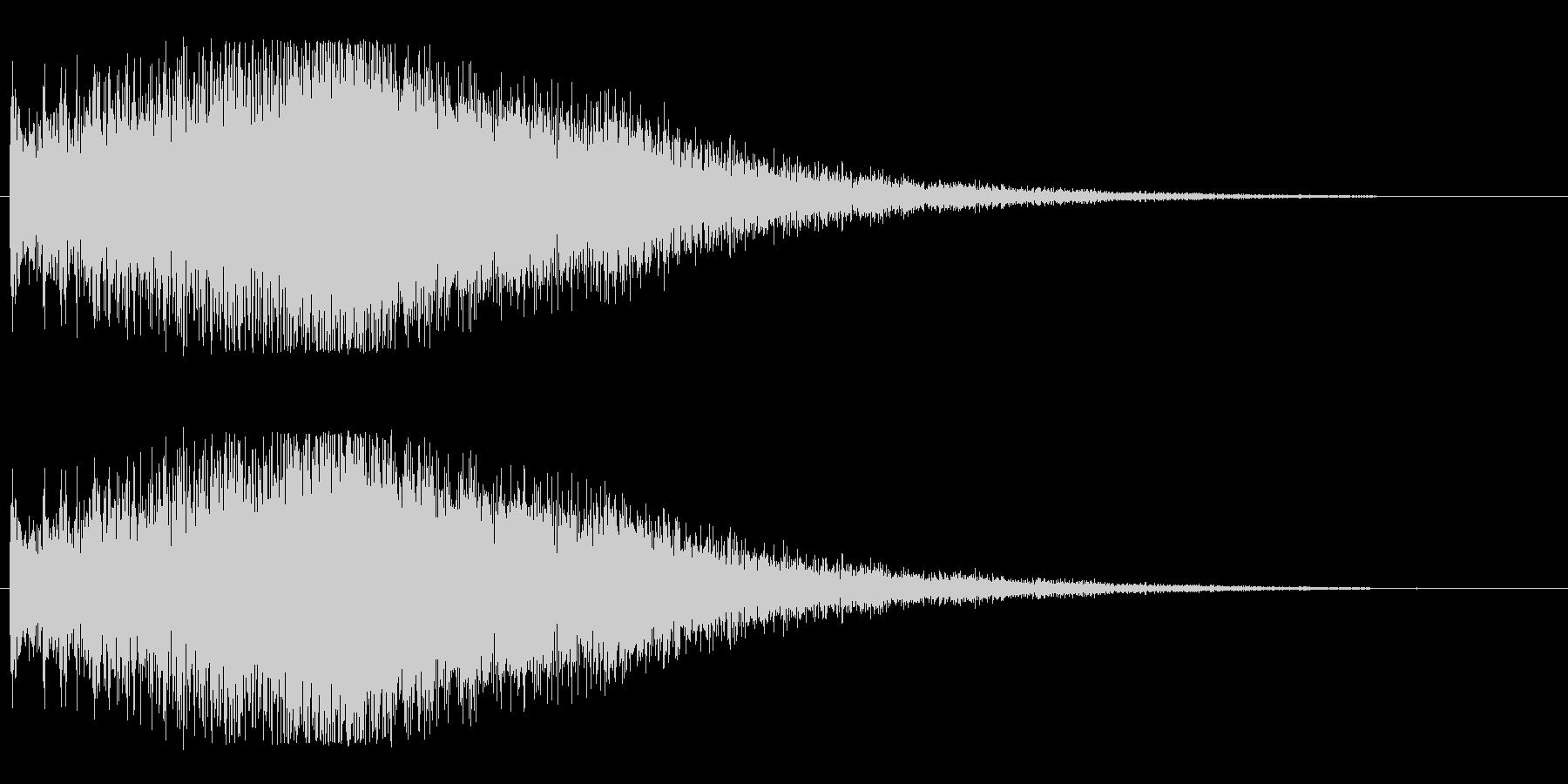 ビブラフォン系アップ(ビブラ)豪華の未再生の波形