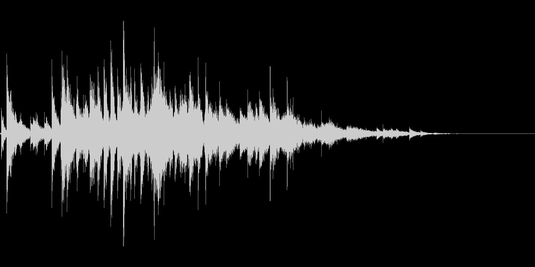 キラキラ(ウィンドチャイム)の未再生の波形