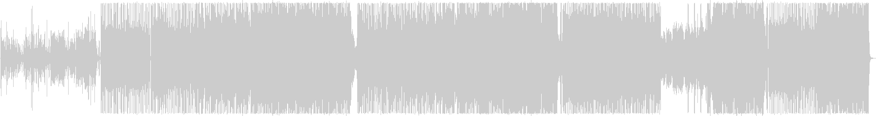 ピアノの旋律が印象的なメタルバラードの未再生の波形