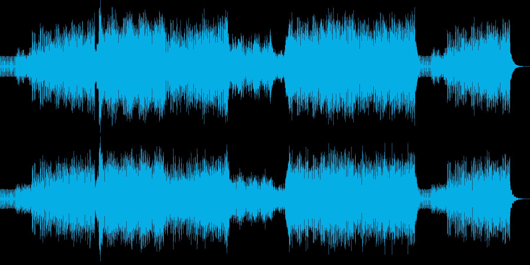 ピアノをメインとした煌びやかなトランス…の再生済みの波形