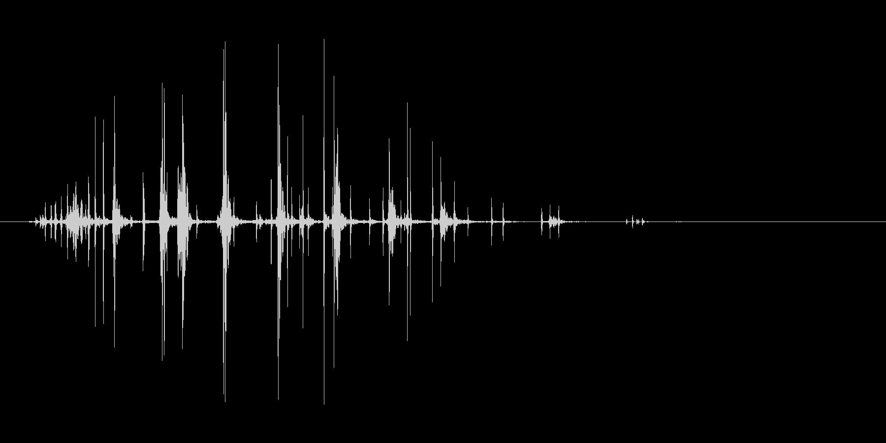 ギリギリと首を絞める効果音の未再生の波形