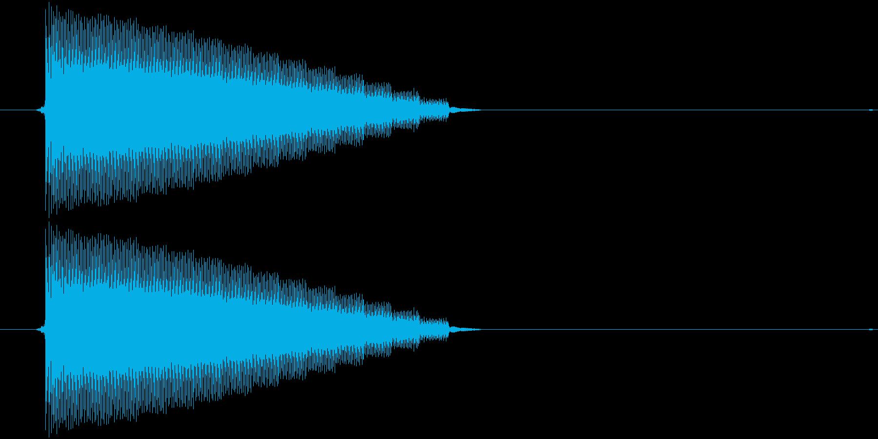 【チップチューン/ボタン/ゲームボーイ】の再生済みの波形