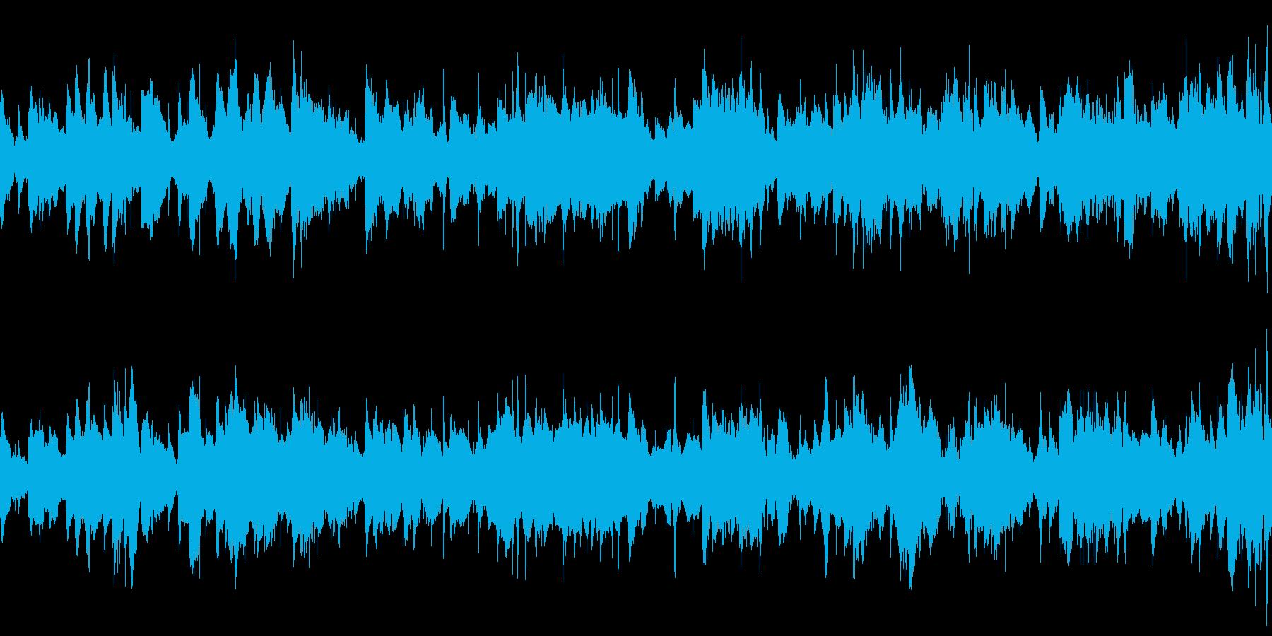 雲の宮殿にいるかのようなヒーリング曲の再生済みの波形