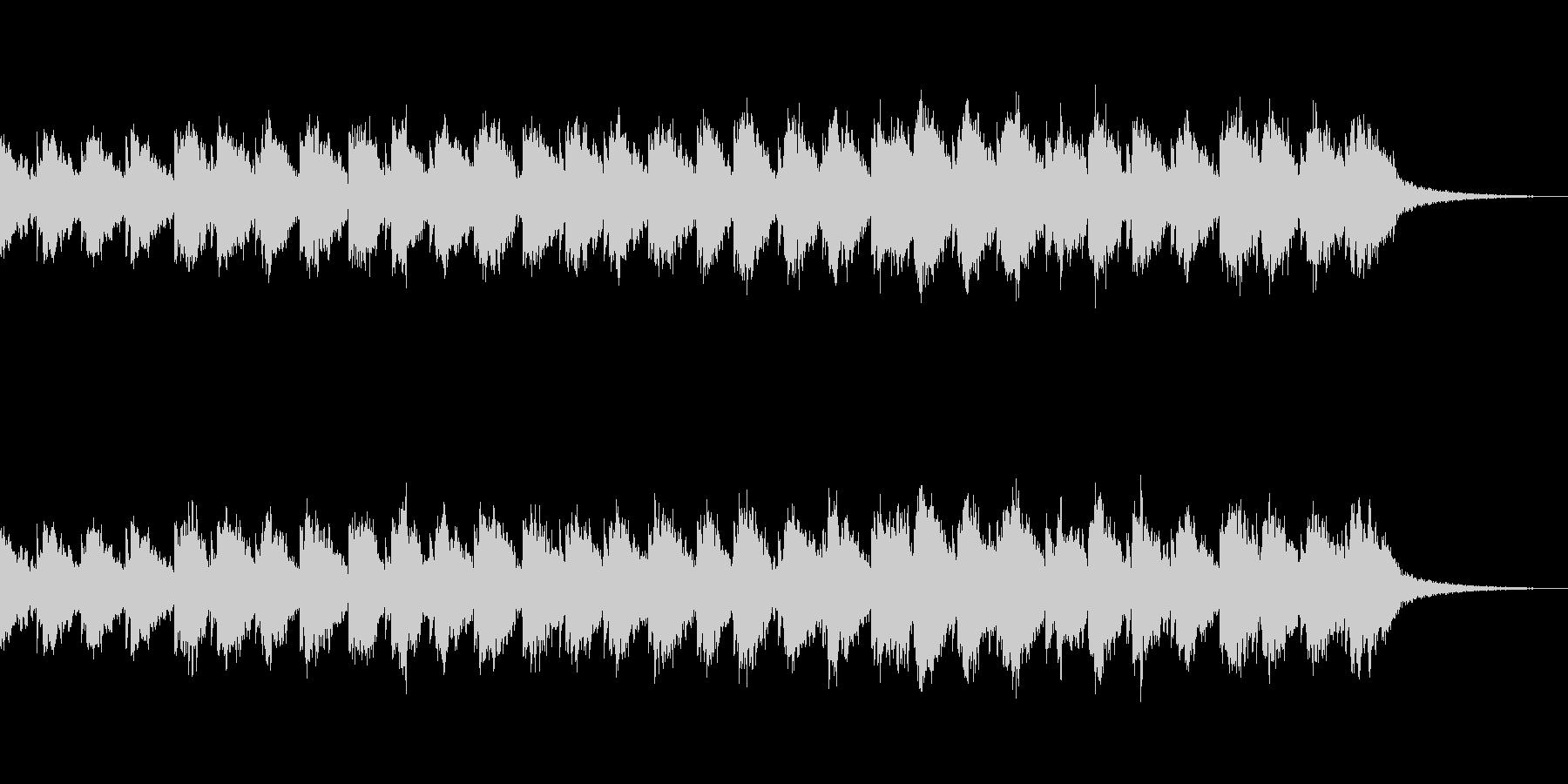 ギターとピアノ音によるアンビエントの未再生の波形