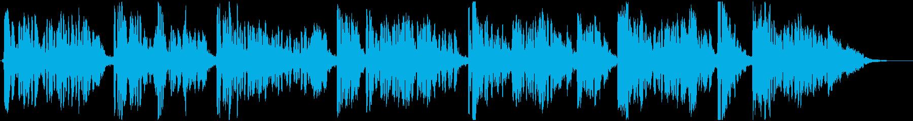 しみじみした雰囲気のジャズBGMの再生済みの波形