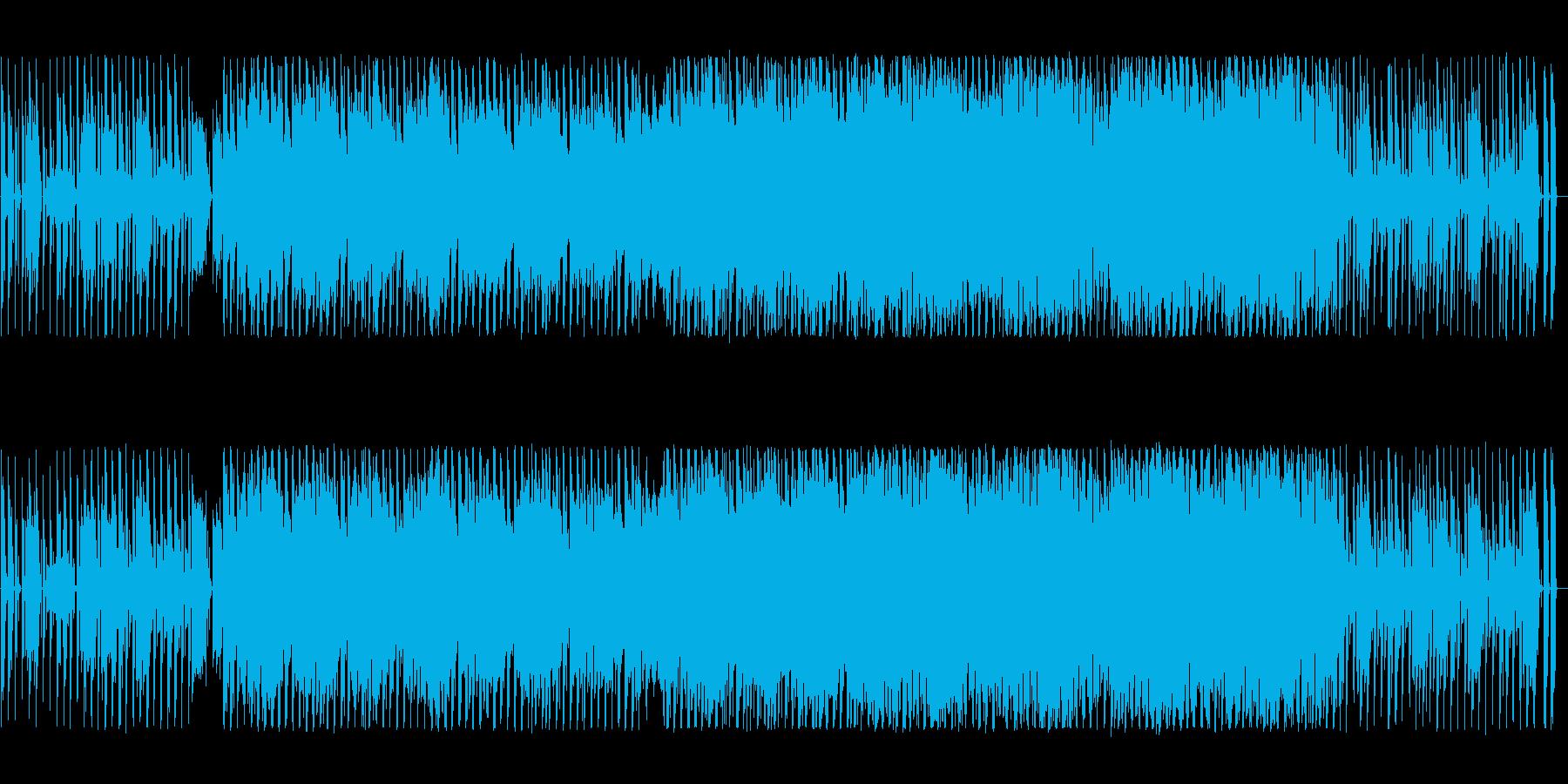多彩なシンセの音色が光るテクノの再生済みの波形