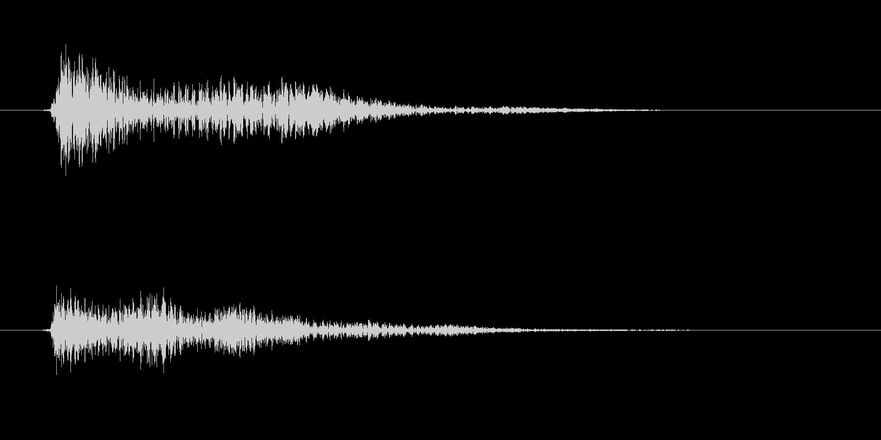 決定/クリック/選択音(和音/固めの音)の未再生の波形