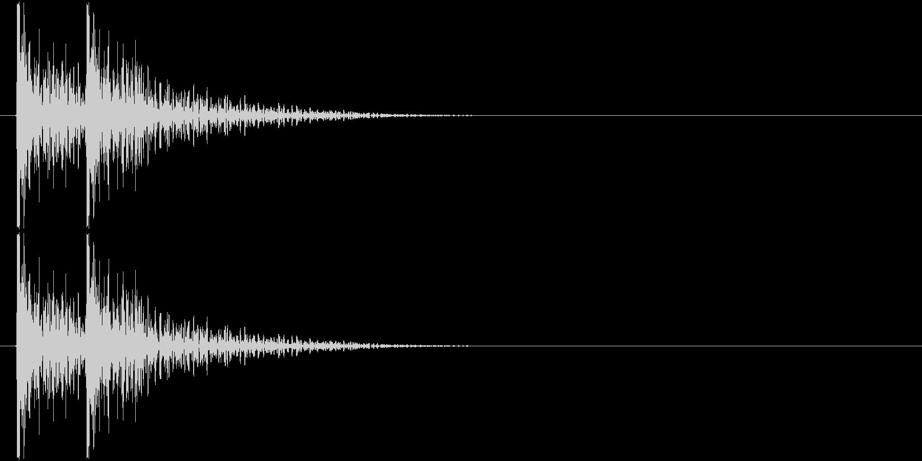 コンコン! (扉をノック・2回)-Aの未再生の波形
