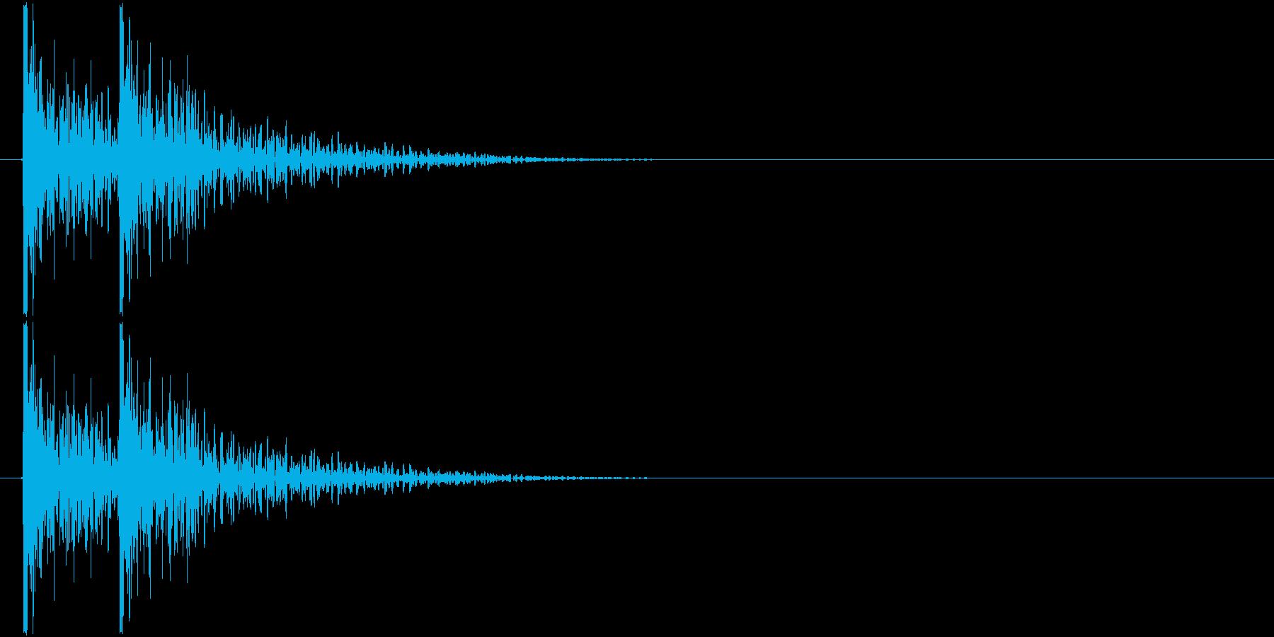 コンコン! (扉をノック・2回)-Aの再生済みの波形
