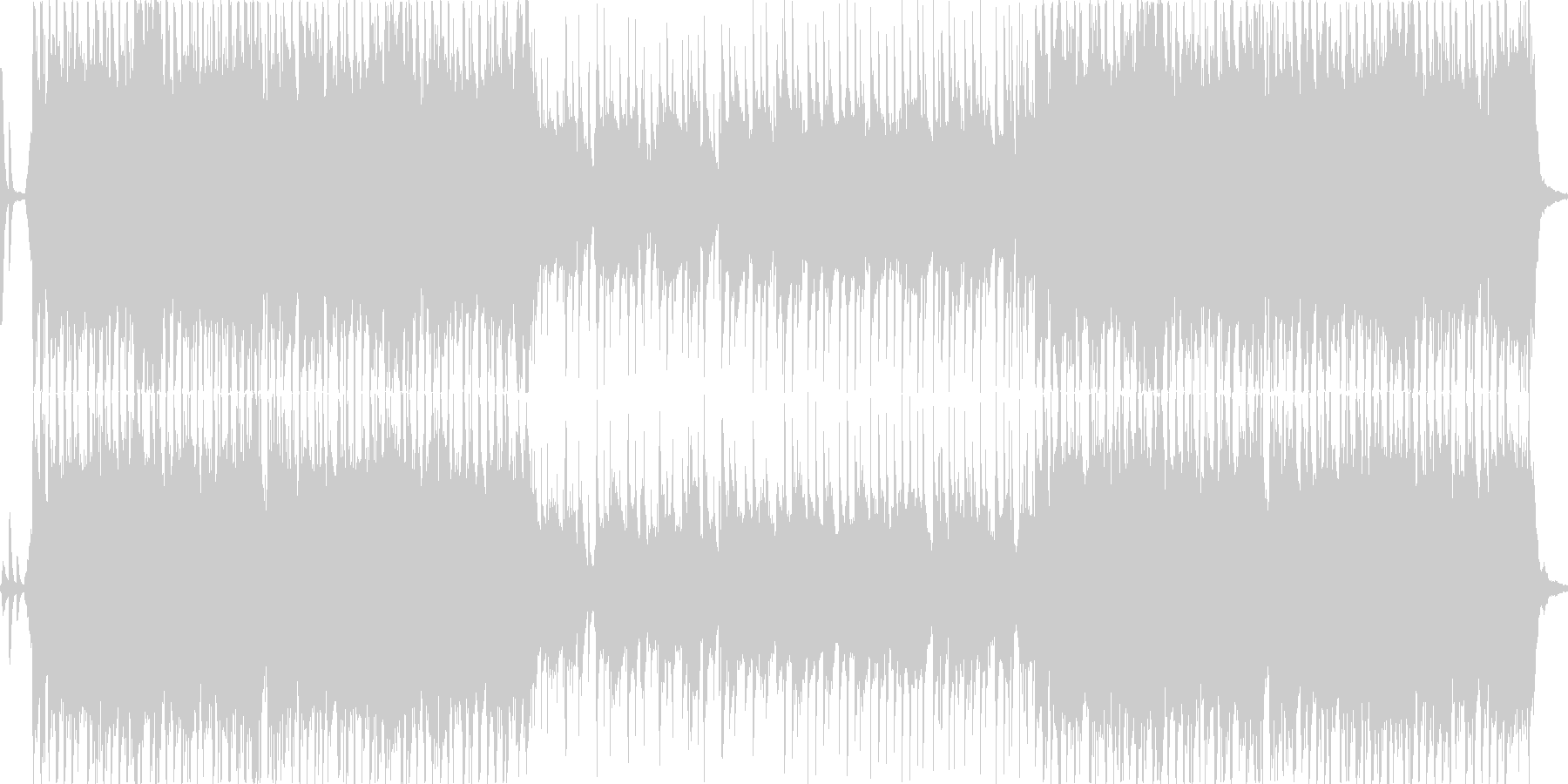 ハイテンションで派手なジングルベルの未再生の波形