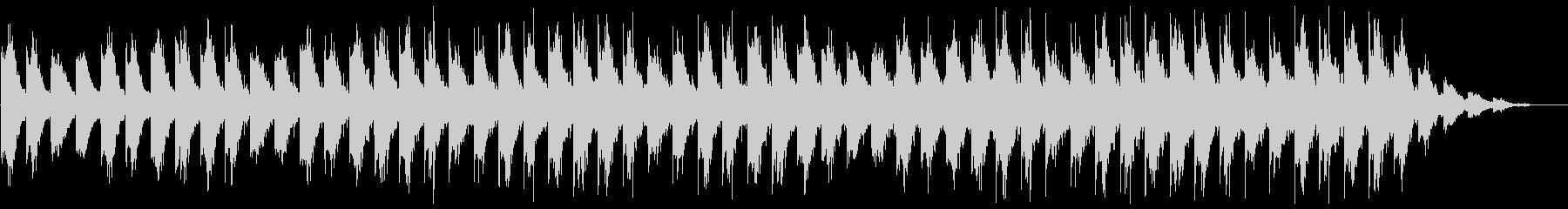 ピアノとギターの癒し系アンビエントの未再生の波形