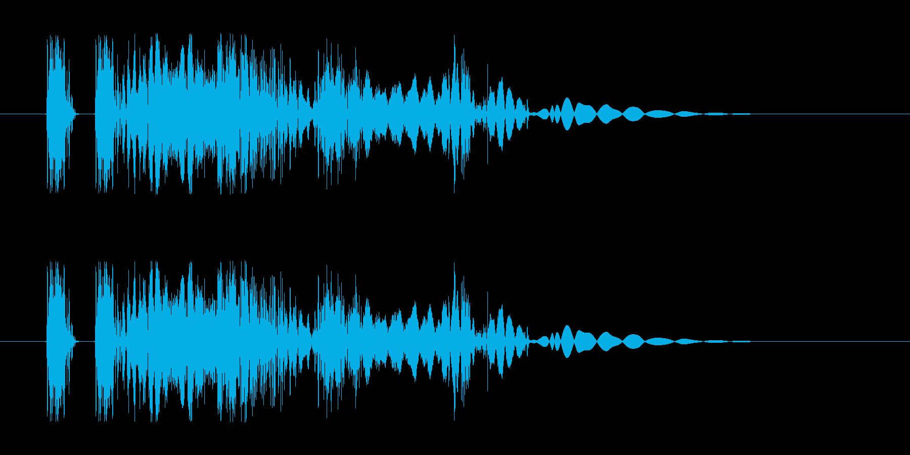ヒット音。重い音。デュクシの再生済みの波形