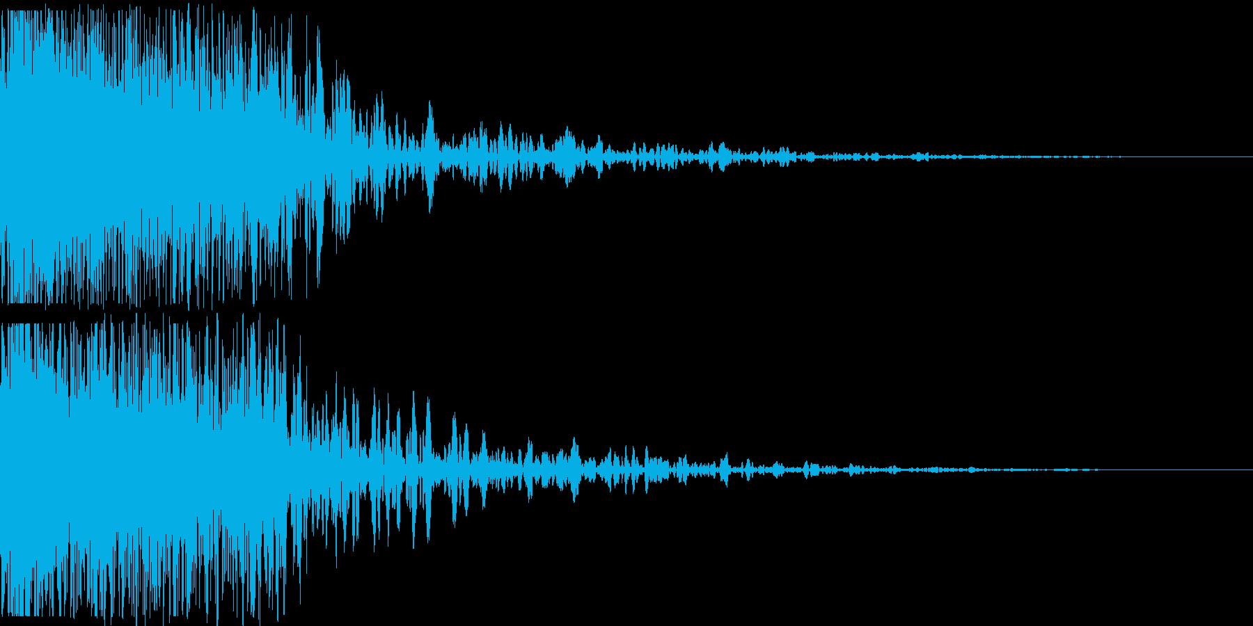 【本物】戦車砲(迫力ある重低音)の再生済みの波形