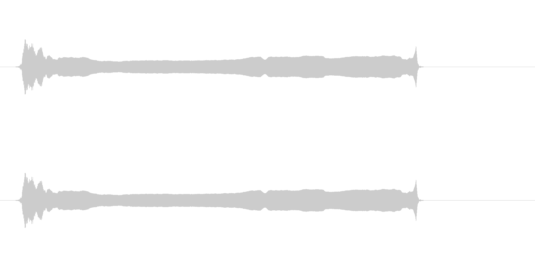 篠笛(六本調子)の甲高いひしぎ音です。…の未再生の波形