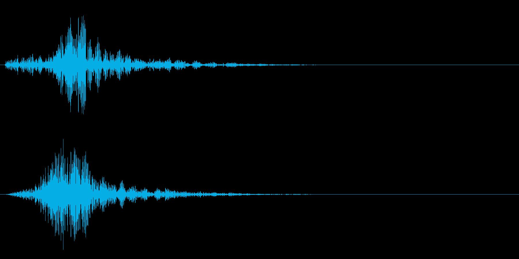 シャッ!カットイン/風切り/場面転換03の再生済みの波形