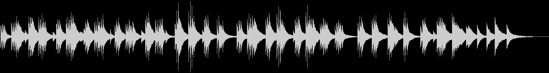 囁くようなタッチで弾くピアノバラードの未再生の波形