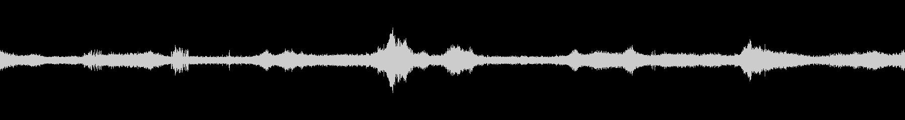 蝉の声、鳥の声、トラックの音などの未再生の波形