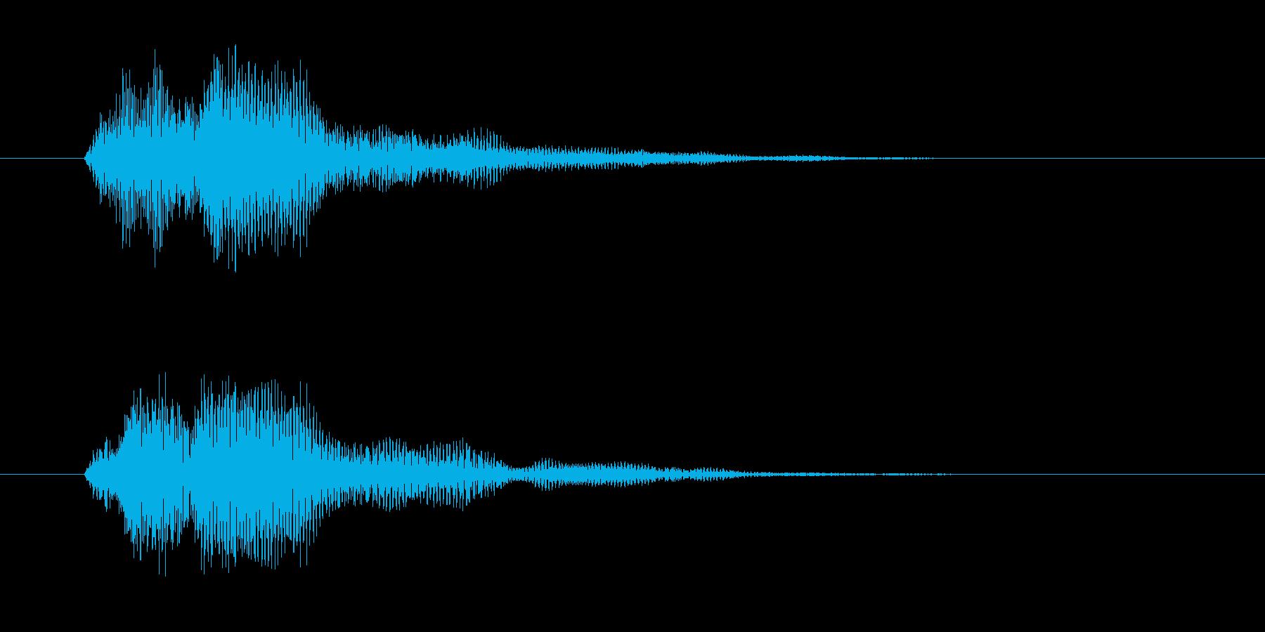 ファン(決定音・セーブ&ロード・魔法)の再生済みの波形