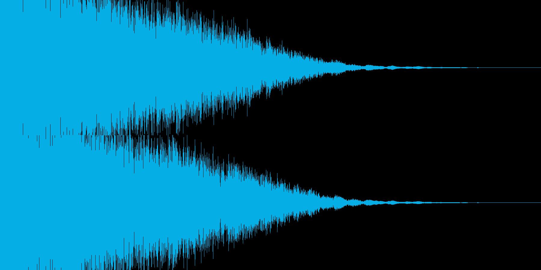 ジャキーンと爽快なインパクト音の再生済みの波形