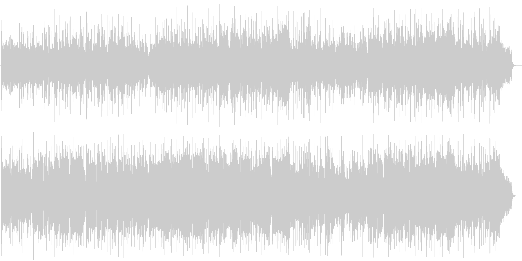 ゆったりと優しい温かみあるピアノバラードの未再生の波形
